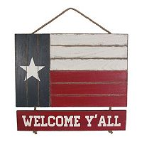 Celebrate Americana Together Wood Texas Flag Wall Decor