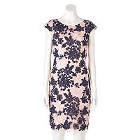 Women's DR by Donna Ricco Floral Embroidered Sheath Dress