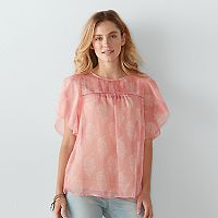 Women's SONOMA Goods for Life™ Paisley Pintuck Top