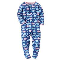 Baby Girl Carter's Whale Footed Pajamas