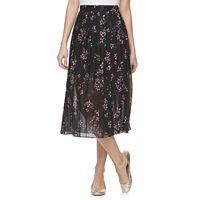 Juniors' Jolie Vie Floral Georgette Midi Skirt