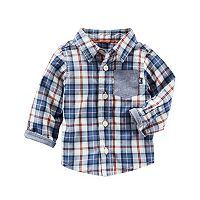 Baby Boy OshKosh B'gosh® Plaid Chambray Shirt