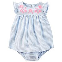 Baby Girl Carter's Striped Bodysuit Dress