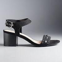 Simply Vera Vera Wang Women's Studded Block Heel Sandals