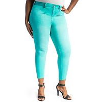 Juniors' Plus Size Crave Slimming Colored Skinny Jeans