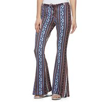Juniors' About A Girl Lace-Up Flare Leg Pants