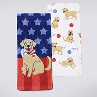 Celebrate Americana Together Dog Kitchen Towel 2-pk.