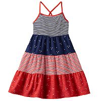 Girls 4-10 Jumping Beans® Stars & Stripes Tiered Dress