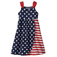 Girls 4-10 Jumping Beans® Americana Cinched Strap Tulip Dress