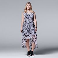 Plus Size Simply Vera Vera Wang High-Low Chiffon Maxi Dress