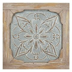 Iron & Wood Medallion Wall Decor by