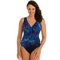 Women's Great Lengths Sunshower Tummy Slimmer Butterfly One-Piece Swimsuit