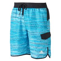 Big & Tall adidas TV Noise Microfiber Volley Swim Trunks