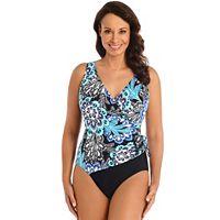 Women's Great Lengths Tummy Slimmer Medallion One-Piece Swimsuit