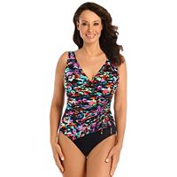 Women's Great Lengths Tummy Slimmer Floral One-Piece Swimsuit