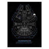 Star Wars Millennium Falcon Modern Canvas Wall Art