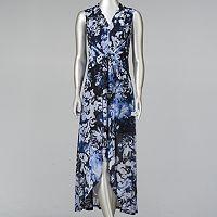 Petite Simply Vera Vera Wang Print High-Low Maxi Dress