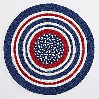 Celebrate Americana Together Round Braided Placemat