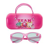 Girls 4-6x Shopkins Ice Cream Kate, Fairy Crumbs & D'lish Donut Sunglasses & Case Set
