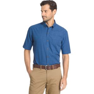 Men's Arrow Boardwalk Bay Classic-Fit Crosshatch Button-Down Shirt