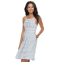 Juniors' SO® Striped Smock-Back Dress