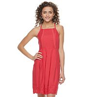 Juniors' SO® Embroidered Fit & Flare Dress