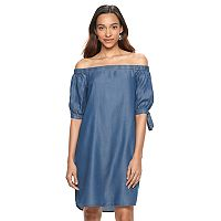 Women's Apt. 9® Off-the-Shoulder Chambray Dress
