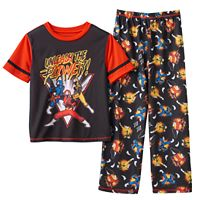 Boys 4-20 Power Rangers 2-Piece Pajama Set