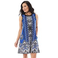 Women's AB Studio Paisley Swing Dress