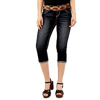 Juniors' Wallflower Legendary Flap-Pocket Capri Jeans