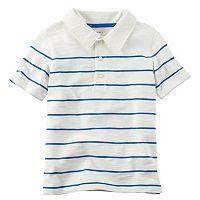 Boys 4-8 Carter's Slubbed Thin Stripe Polo