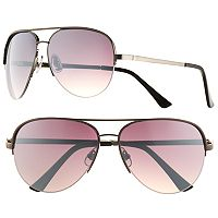 Men's Apt. 9® Gun Metal Aviator Sunglasses