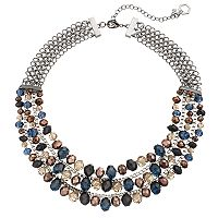 Simply Vera Vera Wang Beaded Box Chain Multi Strand Necklace