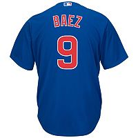 Men's Majestic Chicago Cubs Javier Baez Cool Base Replica Jersey