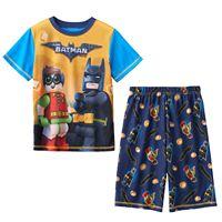 Boys 4-12 Lego Batman 2-Piece Pajama Set