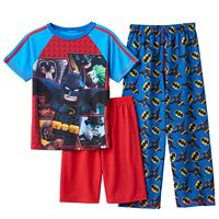 Boys 4-12 Lego Batman 3-Piece Pajama Set