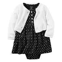 Baby Girl Carter's Bodysuit Dress & Cardigan Set