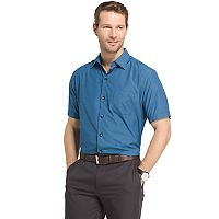 Men's Van Heusen Air Wovens Classic-Fit Poplin Performance Button-Down Shirt