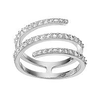 Fleur Cubic Zirconia Spiral Multi Row Ring