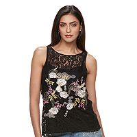 Women's Jennifer Lopez Embroidered Lace Popover Top