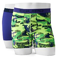 Men's equipo 2-pack Solid & Camo Microfiber Stretch Boxer Briefs
