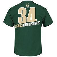 Boys 8-20 Majestic Milwaukee Bucks Giannis Antetokounmpo Record Holder Name & Number Tee