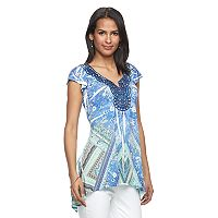 Women's World Unity Embellished Sublimation Top