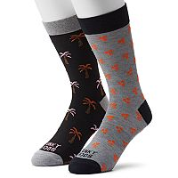 Men's Funky Socks 2-pack Palm Tree Socks