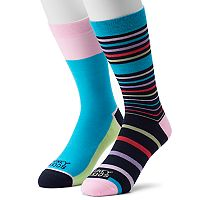 Men's Funky Socks 2-pack Gradual Stripe Socks
