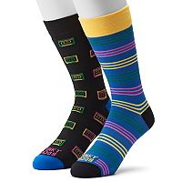 Men's Funky Socks 2-pack Cassette Tapes Socks
