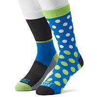 Men's Funky Socks 2-pack Dot Socks