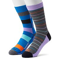 Men's Funky Socks 2-pack Digi Colorblock Stripe Socks