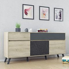 Nashville Two-Tone Sideboard Storage Cabinet  by