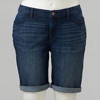Plus Size Simply Vera Vera Wang Faded Jean Bermuda Shorts